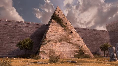 La Piramide fu voluta come tomba da Caio Cestio e realizzata tra il 18 e il 12 a.C.