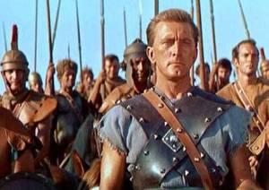 """Un fotogramma del film """"Spartacus"""" (1960) di Stanley Kubrick con Kirk Douglas"""
