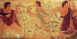 La musica etrusca, percepita dagli affreschi tarquiniesi, è riproposta alla Rassegna