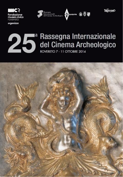Il manifesto della 25.ma Rassegna internazionale del Cinema archeologico di Rovereto