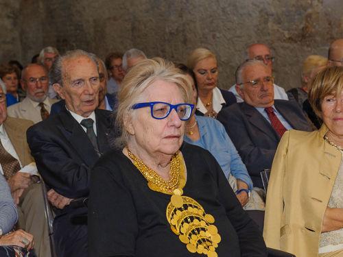 La professoressa Edda Bresciani alla cerimonia del Campano d'Oro al Bastiano Sangallo di Pisa