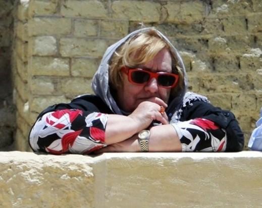 L'egittologa Edda Bresciani in missione nel sito di Medinet nell'oasi del Fayyum