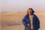 Edda Bresciani nel deserto egiziano