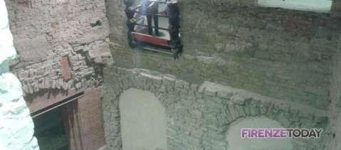 Le imponenti strutture del complesso teatrale del II secolo d.C. sotto Palazzo Vecchio