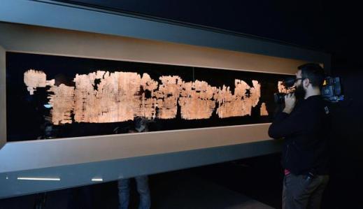 Il Papiro di Artemidoro, lungo 2,5 metri, esposto a Torino al Museo Archeologico