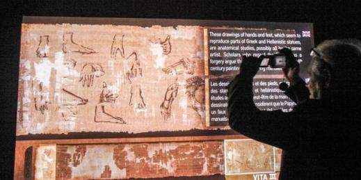 Il Papiro di Artemidoro nel nuovo allestimento al museo Archeologico di Torino