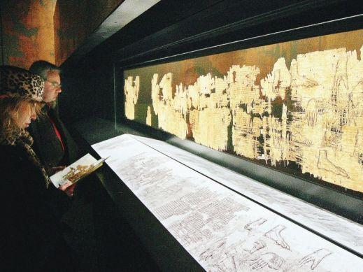 Il Papiro di Artemidoro fu esposto la prima volta nel 2006 a Palazzo Bricherasio, in occasione delle Olimpiadi invernali di Torino