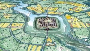 La ricostruzione di una terramara dell'età del Bronzo in pianura Padana