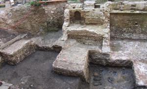 Anfore romane emerse nello scavo del cortile di Palazzo Chiericati a Vicenza