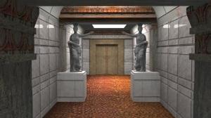 Una ricostruzione 3D della tomba: in fondo la stanza con la sepoltura