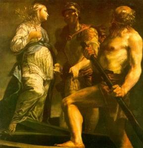 Enea, la Sibilla e Caronte in un quadro di Giuseppe Maria Crespi (XVIII secolo)