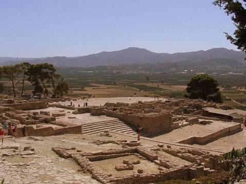 Una panoramica di Festos a Creta: Vincenzo La Rosa diresse lo scavo dal 2000 al 2004