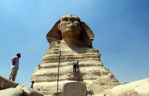 La Sfinge è uno dei simboli indiscussi dell'Antico Egitto