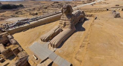 Il grande cortile della Sfinge che sarà presto aperto al pubblico