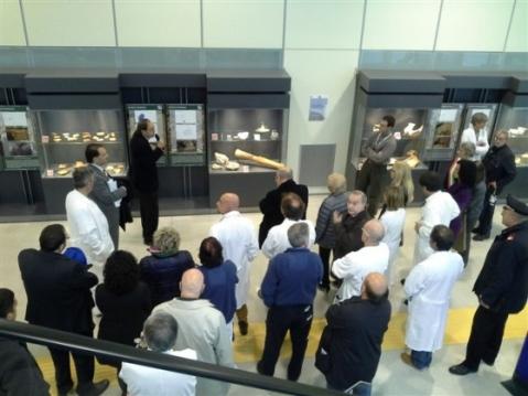 La presentazione del percorso museale archeologico nell'atrio del San Luca