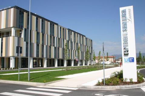Il nuovo ospedale San Luca di Lucca dove è stato aperto un percorso museale archeologico
