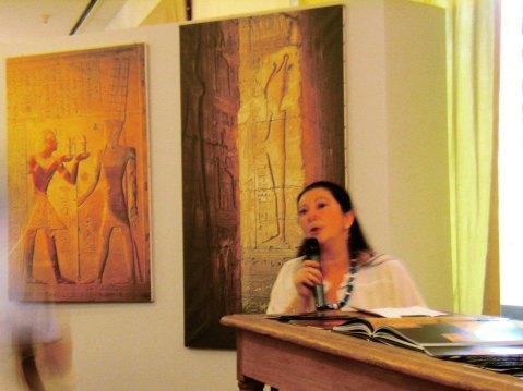 Maria Cristina Guidotti, direttrice del museo Egizio di Firenze, parla a Conegliano