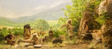 La ricostruzione dell'ambiente dove viveva l'uomo preistorico nell'area del Monte Cetona