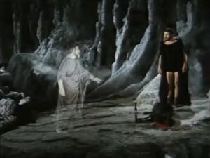 """L'incontro di Ulisse con Tiresia nello sceneggiato rai """"Odissea"""" del 1969"""