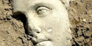 Una splendida statua recuperata a Campo Fiera
