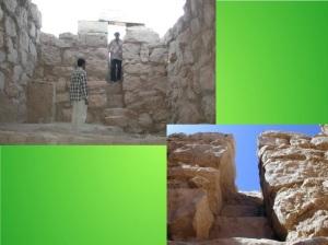 La ripida e stretta scaletta che porta nella fossa necromantica di Urkesh