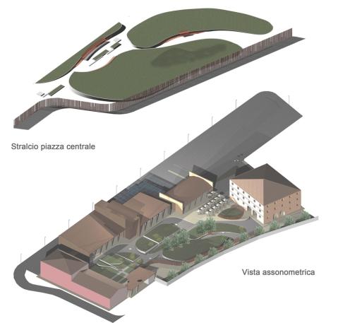 Veduta assonometrica del progetto del nuovo museo Archeologico nazionale di Altino
