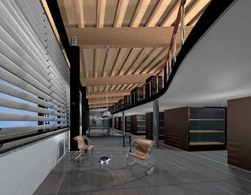 Un interno del grande edificio che ospiterà il nuovo museo Archeologico di Altino