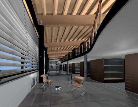 Un interno del grande edificio che ospita il nuovo museo Archeologico di Altino