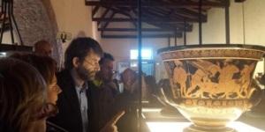 """Il ministro Dario Franceschini all'inaugurazione della mostra """"I capolavori di Eufronio"""" a Cerveteri"""
