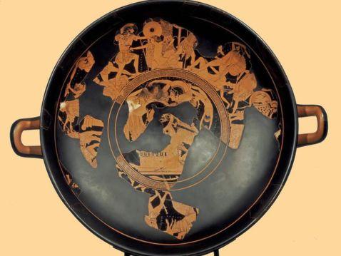 La kylix di Eufronio a Cerveteri da maggio 2014, era stata restituita nel 1999 dal Getty Museum di Malibu