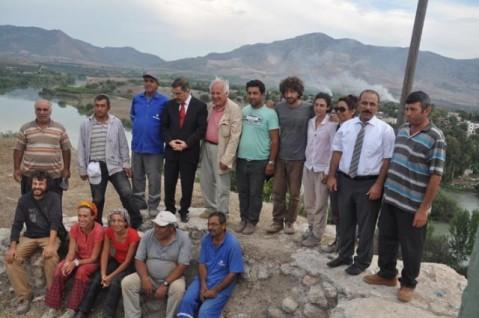 L'equipe dell'università di Pisa con il personale turco della missione congiunta