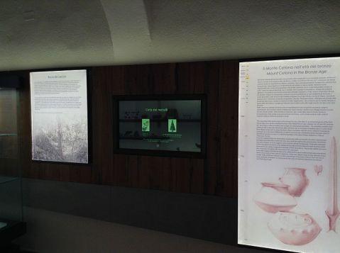 Il nuovo allestimento del museo di Montevarchi con pannelli didattici e supporti multimediali
