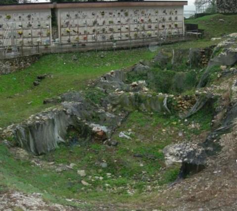 L'area archeologica scoperta più di trent'anni fa nel cimitero di Trissino, nel Vicentino