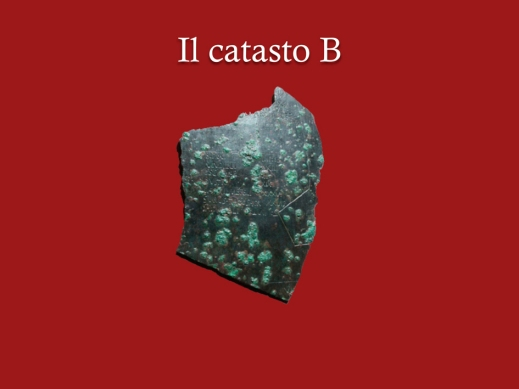 Il frammento bronzeo del catasto B di Verona che certifica la presenza di proprietari terrieri celti