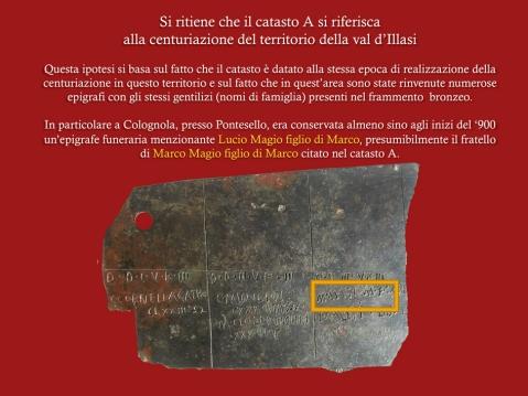 Il riquadro giallo indica la citazione di Marco Magio, famiglia presente in Val d'Illasi