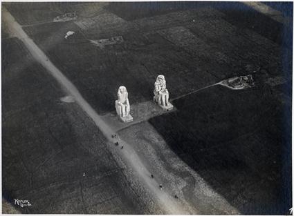 I colossi di Memnone a Tebe Ovest nelle foto di Theodor Kofler