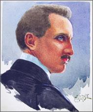 Il pilota austriaco e fotografo Theodor Kofler
