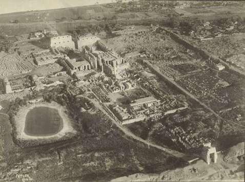 Il grande complesso templare di Karnak fotografato nel 1914 da Kofler