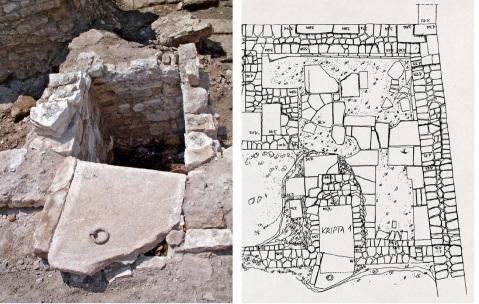 Lo scavo e il rilievo di una cripta trovata nell'area di San Teodoro a Pola