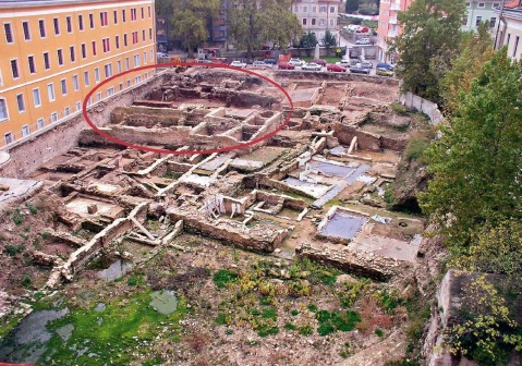 L'area di scavo archeologico nel rione di San Teodoro a Pola (Istria)
