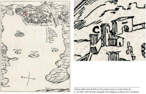 Una mappa di Pola del 1633 riporta la chiesa di S, Teodoro