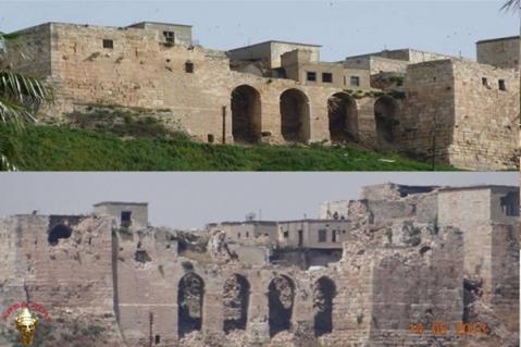 Colpi di mortaio sul Krak dei Cavalieri, la più importante architettura crociata in Siria