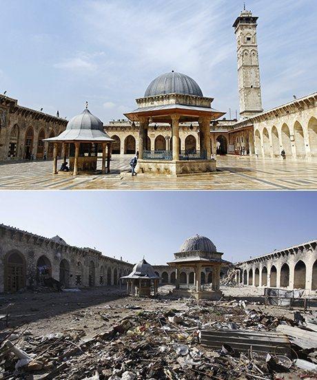 Effetti della guerra in Siria: la distruzione della moschea umayyade di Aleppo