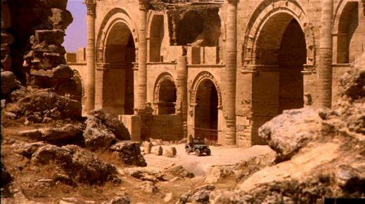 """Una scena del film """"L'esorcista"""" girato nel 1973 a Hatra in Iraq"""