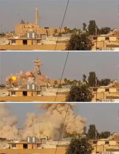 La distruzione della moschea di Giona a Mosul