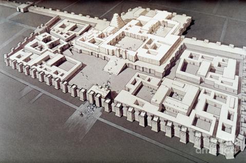 Una ricostruzione del monumentale palazzo di Sargon II a Khorsabad