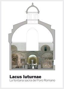 Sezione del tempio di Romolo con l'allestimento sul Lacus Juturnae