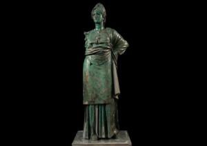 La Minerva di Arezzo dal museo Archeologico di Firenze