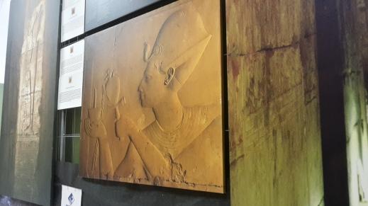 Gigantografie dei rilievi del tempio di Seti I ad Abido realizzate da Paolo Renier