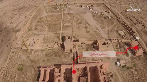 L'area archeologica di Hatra, che si trova a 110 chilometri a sud-ovest di Mosul, in Iraq